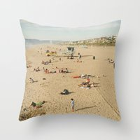 Manhattan Beach Throw Pillow