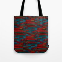 Dark Reds In Lines Of Ch… Tote Bag