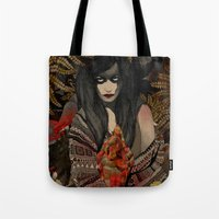 The Keepers - Red Pulse Tote Bag