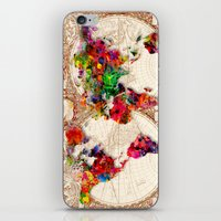 Antique and POP Art Map iPhone & iPod Skin