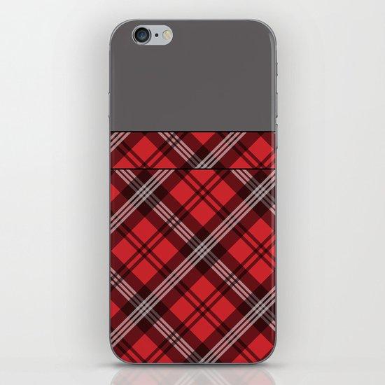 Scottish Plaid (Tartan) - Red iPhone & iPod Skin