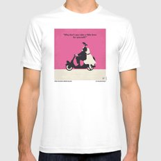 No205 My Roman Holiday minimal movie poster Mens Fitted Tee SMALL White