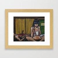 Take out Framed Art Print