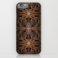 iPhone & iPod Case featuring Steampunk Engine Abstract Fractal Art by Liz Molnar