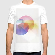 colores Mens Fitted Tee White SMALL