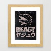 Big In Japan (Black Steel) Framed Art Print