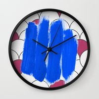 Blu Imperfection Wall Clock