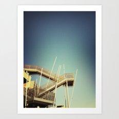 Industrial Stairs Art Print