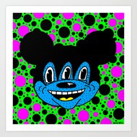 MICKEYES. (Pink Spot On … Art Print