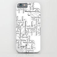 Cursive Cursing iPhone 6 Slim Case