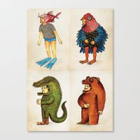 Costumes - Animalados Canvas Print