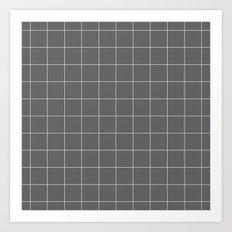 Grey and White Grid Art Print