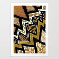 Intense Zig-zagging Art Print
