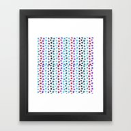 Framed Art Print featuring Ethnic Triangles by Haroulita