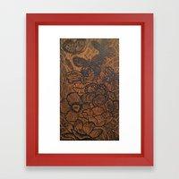 Flowers And Butterflies Framed Art Print