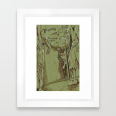 Zombies in the Hall Framed Art Print