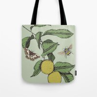 Lemons in Spring Tote Bag