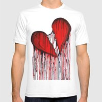 Bleeding Heart Mens Fitted Tee White SMALL