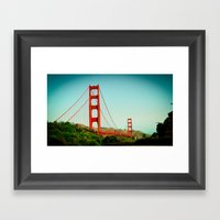 The Golden Gate Bridge A… Framed Art Print