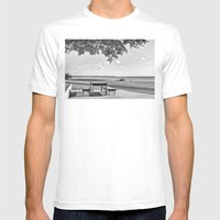 Anyone For A Peaceful Pi… Mens Fitted Tee White SMALL