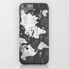 The World Map B/W Slim Case iPhone 6s