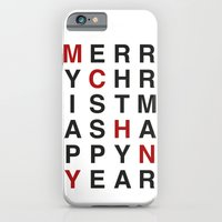 iPhone & iPod Case featuring Merry Christmas by Joannes