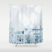 springtime in amsterdam Shower Curtain