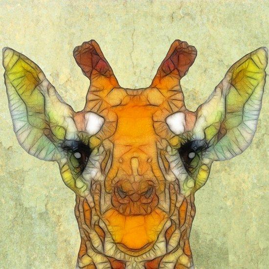 abstract giraffe calf Art Print