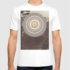 Washed Out SMALL White Mens Fitted Tee
