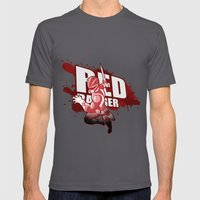 Forever Red Mens Fitted Tee Asphalt SMALL