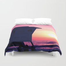 Mission Beach Sunset Duvet Cover