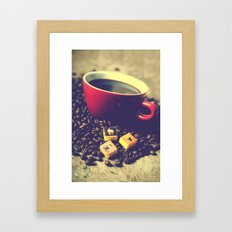 Vintage coffee Framed Art Print