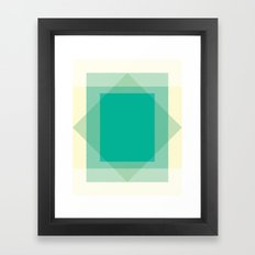 Cacho Shapes LXI Framed Art Print