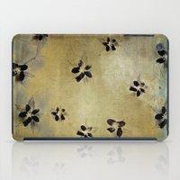 Posies On Vintage Linen iPad Case