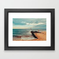 Jersey Fisherman Framed Art Print
