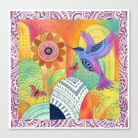 Indigo Hummingbird Canvas Print