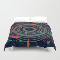 chaos vs order - the labyrinth within v2 Duvet Cover