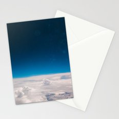 Blue and White at the sky Stationery Cards