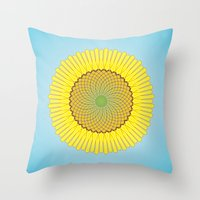 Spring Yellow Throw Pillow