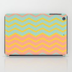 Colorful Chevron on Peach and Mint iPad Case