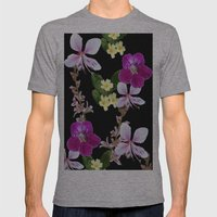 FLOWERED PHOTO DESIGN Mens Fitted Tee Athletic Grey SMALL