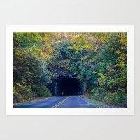Dream tunnel  Art Print