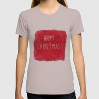 Happy Christmas! Womens Fitted Tee Cinder SMALL