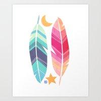 Magic Feather Art Print