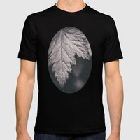 Black And White Forest L… Mens Fitted Tee Black SMALL
