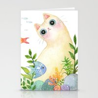 The Aquarium Cat Stationery Cards