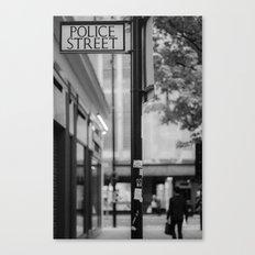 Police street Canvas Print