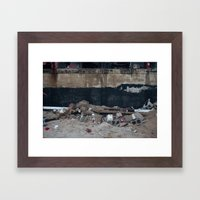 Under the Boardwalk, After Sandy Framed Art Print