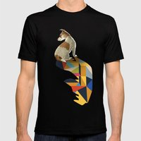 Walking Shadow, Jack Russell Mens Fitted Tee Black SMALL