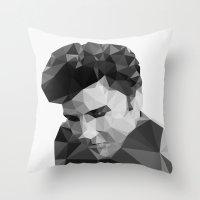 Elvis Presley - Digital Triangulation Throw Pillow